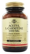 Image of Solgar - Acetyl L-Carnitine Free Form 1000 mg. - 30 Tablets