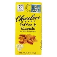 Chocolove - Milk Chocolate Bar Toffee & Almonds - 3.2 oz. by Chocolove