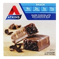 Atkins Nutritionals Inc. - Advantage Snack Bar Dark Chocolate Decadence - 5 Bars (637480025720)
