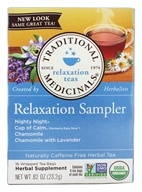 Image of Traditional Medicinals - Relaxation Herb Tea Sampler - 16 Tea Bags