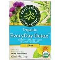 Traditional Medicinals - Lemon EveryDay Detox Tea - 16 Tea Bags (032917001979)