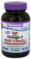 Image of Bluebonnet Nutrition - Natural Omega-3 Fish Oil Heart Formula - 60 Softgels