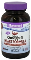 Bluebonnet Nutrition - Natural Omega-3 Fish Oil Heart Formula - 60 Softgels - $16.76