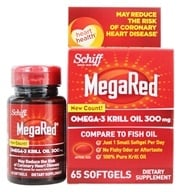 Schiff - Mega Red Omega-3 Krill Oil 300 mg. - 60 Softgels, from category: Nutritional Supplements
