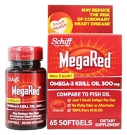 Schiff - Mega Red Omega-3 Krill Oil 300 mg. - 60 Softgels (020525104342)