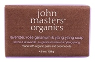 John Masters Organics - Bar Soap Lavender Rose Geranium & Ylang Ylang - 4.5 oz., from category: Personal Care