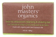 John Masters Organics - Bar Soap For Cleansing & Shaving Birch & Cedarwood - 4.5 oz. (669558600256)