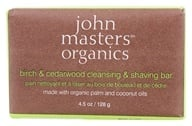 Image of John Masters Organics - Bar Soap For Cleansing & Shaving Birch & Cedarwood - 4.5 oz.