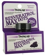 Image of Twinlab - Resveratrol Max Dots - 60 Tablets