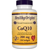 Healthy Origins - CoQ10 Kaneka Q10 Gels 200 mg. - 150 Softgels by Healthy Origins