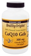 Healthy Origins - CoQ10 Kaneka Q10 Gels 300 mg. - 150 Softgels (603573350239)