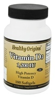 Healthy Origins - Vitamin D3 1200 IU - 180 Softgels, from category: Vitamins & Minerals