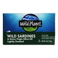 Wild Planet - Lightly Smoked Wild Sardines in Extra Virgin Olive Oil - 4.4 oz.
