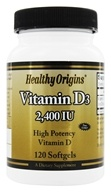 Healthy Origins - Vitamin D3 2400 IU - 120 Softgels - $5.14