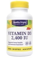 Healthy Origins - Vitamin D3 2400 IU - 360 Softgels, from category: Vitamins & Minerals