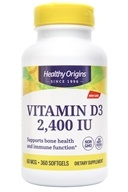 Image of Healthy Origins - Vitamin D3 2400 IU - 360 Softgels