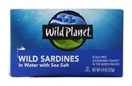 Wild Planet - Wild Sardines in Spring Water - 4.38 oz.