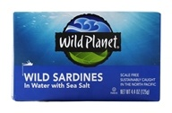 Wild Planet - Wild Sardines in Spring Water - 4.38 oz. - $2.82