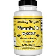 Healthy Origins - Vitamin D3 10000 IU - 120 Softgels