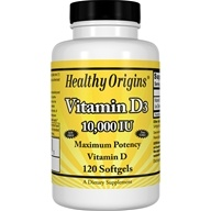 Healthy Origins - Vitamin D3 10000 IU - 120 Softgels, from category: Vitamins & Minerals