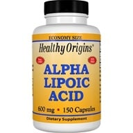 Healthy Origins - Alpha Lipoic Acid 600 mg. - 150 Capsules by Healthy Origins