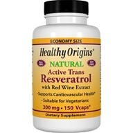 Healthy Origins - Resveratrol with Red Wine Extract 300 mg. - 150 Vegetarian Capsules by Healthy Origins