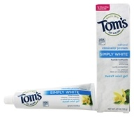 Image of Tom's of Maine - Natural Toothpaste Simply White With Fluoride Sweet Mint Gel - 4.7 oz.