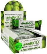 Image of NuGo Nutrition - Gluten Free Nugo 10 Raw Natural Energy Bar Apple Cinnamon - 1.76 oz.