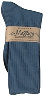 Maggie's Organics - Socks Cotton Crew Size 9-11 Navy - 1 Pair (760702558253)