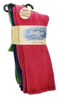 Maggie's Organics - Socks Cotton Crew Tri-Pack Size 9-11 Raspberry Navy Forest - 3 Pack