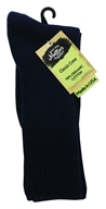 Maggie's Organics - Socks Cotton Crew Size 10-13 Navy - 1 Pair (760702558260)