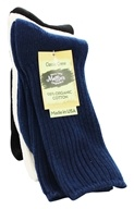 Image of Maggie's Organics - Socks Cotton Crew Tri-Pack Size 9-11 Navy Natural Black - 3 Pack