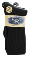 Image of Maggie's Organics - Socks Cotton Crew Tri-Pack Size 9-11 Black - 3 Pack
