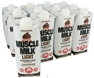 Cytosport - Muscle Milk Light RTD Nutritional Shake Chocolate - 17 oz.