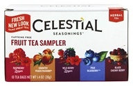 Celestial Seasonings - Herbal Fruit Tea Sampler Caffeine Free - 18 Tea Bags (070734055003)
