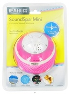 HoMedics - Sensory SoundSpa Mini Portable Sound Machine SS-MN101PK Pink - CLEARANCE PRICED