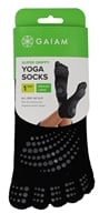 Gaiam - Super Grippy Yoga Socks Black/Black Dots - Medium/Large