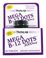 Twinlab - Mega B-12 Dots 5000 mcg. - 60 Tablets, from category: Vitamins & Minerals