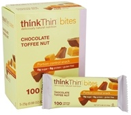 Think Products - thinkThin Bites Chocolate Toffee Nut - 5 Bars