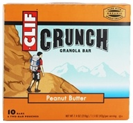 Clif Bar - Crunch Granola All Natural Peanut Butter - 10 Bars (722252191021)