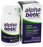 Image of Enzymatic Therapy - Alpha Betic Diabetic Nutrition Alpha Lipoic Acid - 60 Capsules