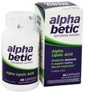 Enzymatic Therapy - Alpha Betic Diabetic Nutrition Alpha Lipoic Acid - 60 Capsules (020065600236)