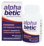 Enzymatic Therapy - Alpha Betic Diabetic Nutrition Cinnamon Plus Chromium & Biotin - 60 Capsules Formerly by NatureWorks