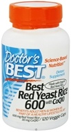 Doctor's Best - Best Red Yeast Rice with CoQ10 600 mg. - 120 Vegetarian Capsules - $17.21