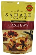 Sahale Snacks - Glazed Nuts Cashews with Pomegranate + Vanilla - 4 oz.