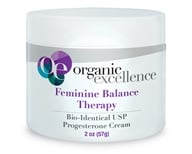 Image of Organic Excellence - Feminine Balance Therapy Bio-Identical Progesterone Cream Fragrance-Free - 2 oz.