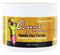 Organic Excellence - Balance Plus Therapy Bio-Identical Progesterone Cream Fragrance-Free - 2 oz. by Organic Excellence