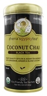 Zhena's Gypsy Tea - Black Tea Coconut Chai - 22 Tea Bags (652790100349)