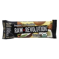 Raw Revolution - Organic Live Food Bar with Sprouted Flax Seeds Coconut Delight - 1.8 oz.