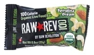 Raw Revolution - Organic Live Food Bar Raw Rev 100 Calorie Spirulina Dream - 0.8 oz. (formerly Spirlina and Cashew)